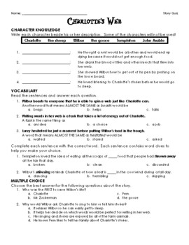 Charlotte's Web - Story Quiz