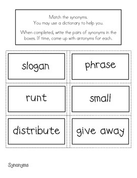 Charlotte's Web- Synonyms