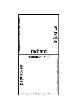 Charlotte's Web Tarsia Vocabulary puzzle LARGE