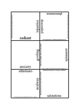 Charlotte's Web Tarsia Vocabulary puzzle Medium