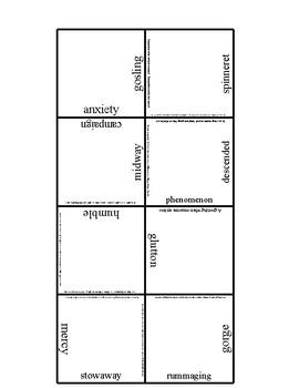 Charlotte's Web Tarsia Vocabulary puzzle Normal