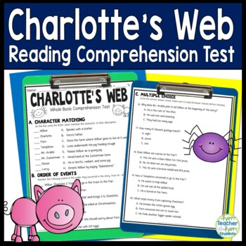Charlotte's Web Test: Final Book Test with Answer Key