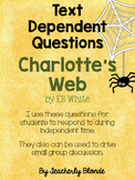 Charlotte's Web Text Dependent Questions for Small Group R