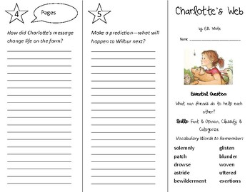 Charlotte's Web Trifold - Open Court 4th Grade Unit 1 Lesson 3