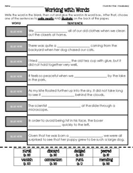 Charlotte's Web (Vocabulary Matching) #1