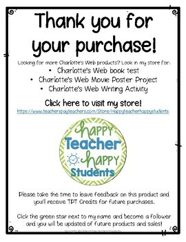 free charlotte s web word search by happyteacherhappystudents tpt