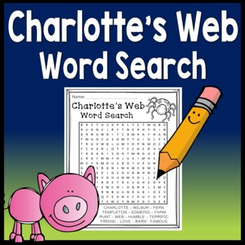 FREE! Charlotte's Web Word Search
