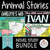 Charlotte's Web and The One and Only Ivan Novel Study Bundle: Animal Stories