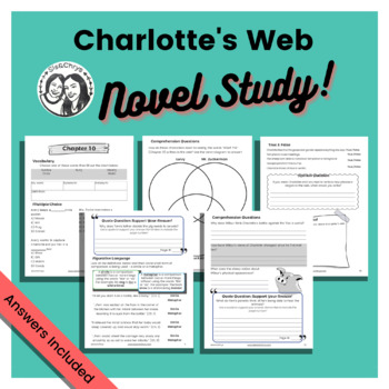 Charlotte's Web by E.B. White: Student Workbook