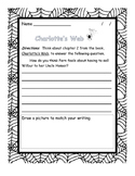 Charlotte's Web written response questions chapters 1-5