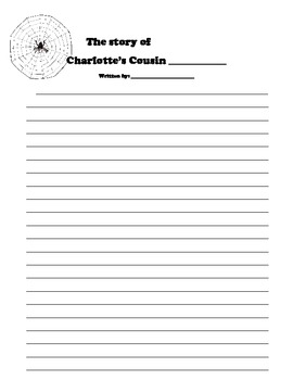 Charlotte's Cousin Writing Activity