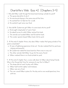 Charlotte's Web:  11 Quizzes