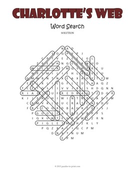 Charlotte's Web Word Search