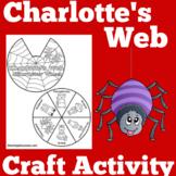 Charlotte's Web Activity | Charlotte's Web Craft
