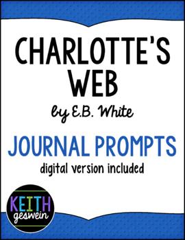 Charlotte's Web:  22 Journal Prompts