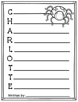 Charlotte's Web Writing Activity: 4 Acrostic Poem Templates AND Word Search