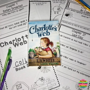 Charlotte's Web Book Study- Chapter by Chapter and More