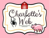 Charlotte's Web Book Study, Reading and Writing Response Journal