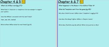 FULL Charlotte's Web Book Study Smartboard Chpt. 1-22