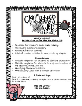 Charlotte's Web Book Study Unit