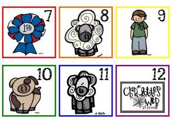 Charlotte's Web Calendar Pieces