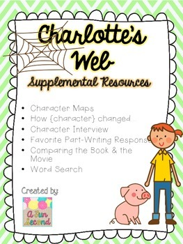 charlottes web book main characters