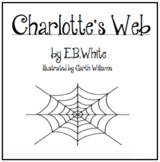 Charlotte's Web Character Study Booklet
