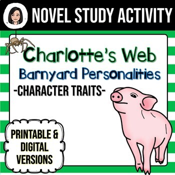 charlotte 39 s web character trait worksheet by lindsay helman tpt. Black Bedroom Furniture Sets. Home Design Ideas