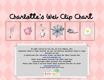 Charlotte's Web Clip Chart