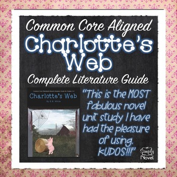 Charlotte's Web Common Core Aligned Teacher Guide - 158 pages