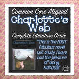 Charlotte's Web Novel Study Unit Lessons, Activities PACKET | DISTANCE LEARNING