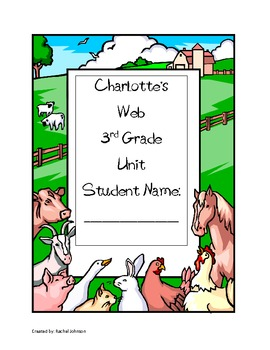 Charlotte's Web Common Core Unit with packet