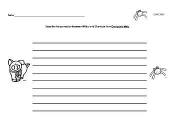Charlotte's Web Comparison Writing - First Grade