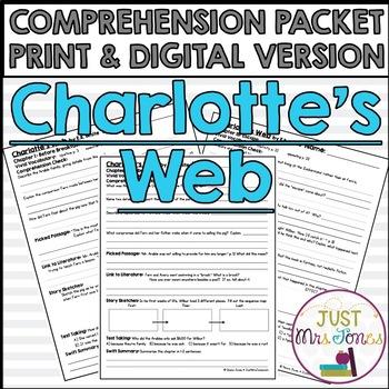 Charlotte's Web Comprehension Packet