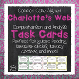 Charlotte's Web Task Cards - Reading Comprehension Questions