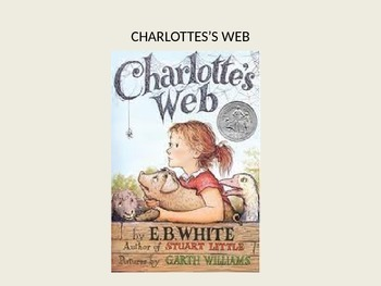 Charlottes Web EB White adapted power point - great adapted version