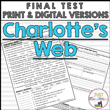 Charlotte's Web Final Test