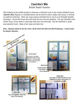 Charlotte's Web Foldable Graphic Organizer