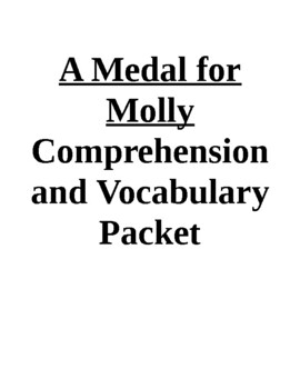 A Medal for Molly Guided Reading Unit (Level P)