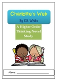 Charlotte's Web Higher Order Thinking Novel Study Questions