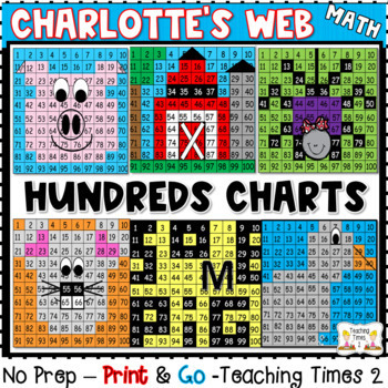 Charlotte's Web -Hundreds Chart Hidden Picture
