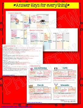 CHARLOTTE'S WEB NOVEL STUDY LITERATURE GUIDE FLIP BOOK