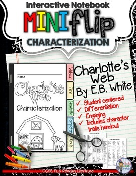 CHARLOTTE'S WEB: INTERACTIVE NOTEBOOK CHARACTERIZATION MINI FLIP