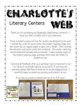 Charlotte's Web Literacy Center Bundle