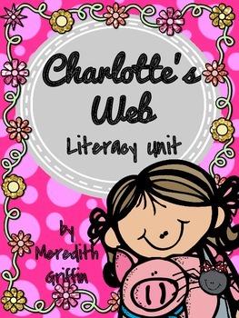 Charlotte's Web Literacy Unit Comprehension Craftivity Venn Novel Study