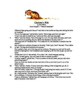 Charlotte's Web - Literary Text Test Prep