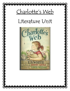 Charlotte's Web Literature Study and Activities