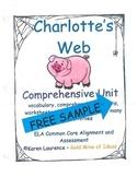 Charlotte's Web Novel Reading Study Guide FREE