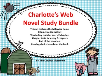 Charlotte's Web Novel Study Bundle Set