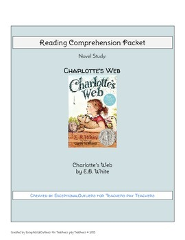 Charlotte's Web Novel Study Comprehension Questions